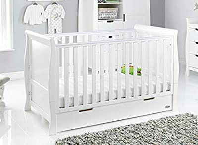 Obaby Stamford Sleigh Classic Cot Bed - White