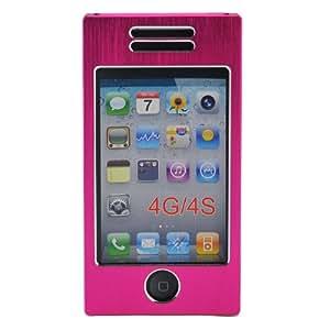 A-discovery - Coque Etui Housse Aluminium Iphone 4, Iphone 4S, Couleur: Fuschia