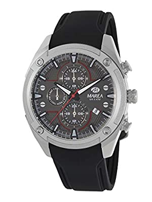 Reloj Marea Analógico Multifunción Hombre B54156/3 con Calendario, Correa de Silicona Negra