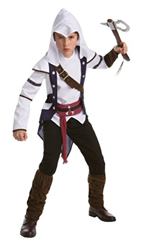 Karneval Klamotten Assassins Creed Kostüm Connor Kinder-Kostüm Jungen Größe (Connor Kostüm Creed Assassins)