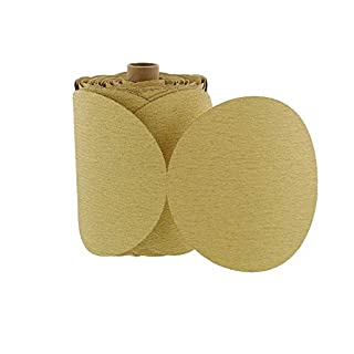 ABN 180 Grit 100 Piece 6 Inch Yellow Sanding Abrasive Disc with Sticky Backing Sandpaper Roll