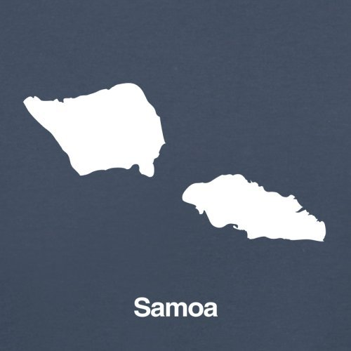 Samoa / Unabhängiger Staat Samoa Silhouette - Herren T-Shirt - 13 Farben Navy