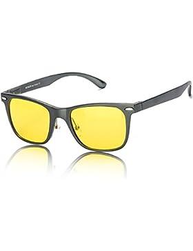 Grandes Gafas de HD Visión para Conduccion Nocturna Hombre Polarizadas Lente Amarilla Anti Reflectante Ultraligero...
