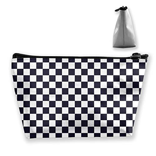 Trapezförmige Aufbewahrungstasche Clutch Cage Plaid Pattern Travel Makeup Bags