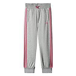 Adidas Girl's Essentials 3 Stripes, Girls, Trousers, Essentials 3-streifen Hose, Greypink