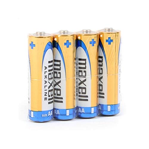 Maxell 790223.04.CN Alkaline Batterie, Mignon AA, 4 Pack Shrink Aa 4 Pack