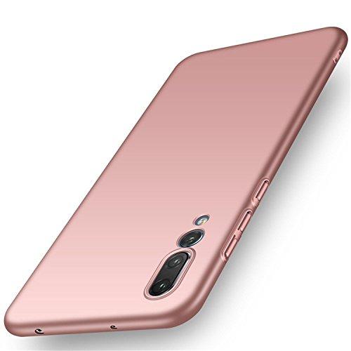 Custodia per Huawei P20, Huawei P20 Pro Cover Adamarker Hard Pc Ultra Sottile Anti-Scratch Bumper Protettiva Case Gomma Rigida Protezione per Huawei P20/P20 Pro (Huawei P20, Oro Rosa)