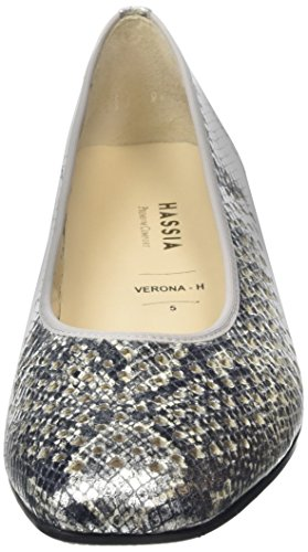 Hassia Verona, Weite H, Chaussures à talons - Avant du pieds couvert femme Argent - Silber (7600 silber)