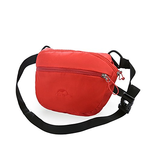 HYSENM Borsa a tracolla marsupio cintura Daypacks Borsa Outdoor vita quotidiana, verde rosso