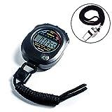 Scettar Digital Sport Stoppuhr Timer mit Edelstahl Pfeife, große LCD-Display geeignet für Fußball, Basketball, Laufen, Schwimmen, Fitness und Mehr