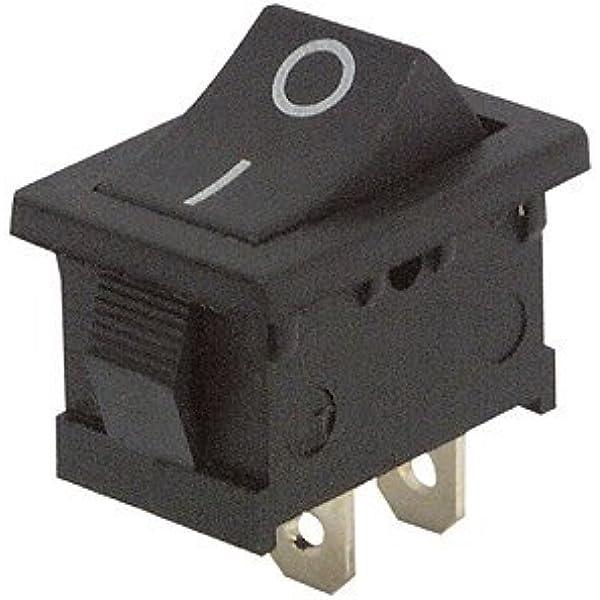 Mc Power Mini Wippenschalter 2 Polig Schwarze Wippe 0 1 Ac 250v 3a 2 Stellungen Ein Aus Baumarkt