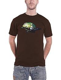 Gorillaz T Shirt Dirty Harry Helmet Band Logo Nue offiziell Herren Braun