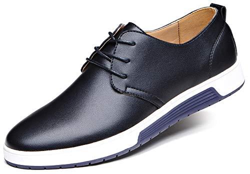 CAGAYA Herren Freizeit Schuhe aus Leder Business Anzugschuhe Atmungsaktiv Lederschuhe Oxford Halbschuhe Party Hochzeit übergrößen 38-46 (38, Schwarz) (Slipper Schuhe Jungen)