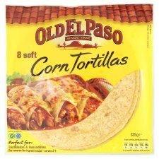 Old El Paso 8 X Soft Corn Tortillas 335G