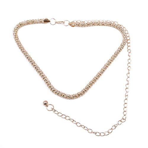 Yeucan Mais Taille Kette Gold Metall Runde Kette Schärpe Gürtel Brautkleid Kleidung Zubehör Taille Kette -