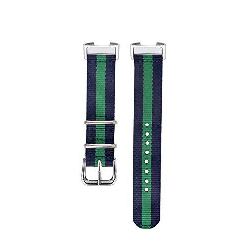 SEWORLD Armband Uhrenarmband für Fitbit Charge 3Armband, 5 Farben Canvas Nylonband für Fitbit Charge 3 Smart Armband Ersatzband Männer Frauen Smartwatch Zubehör(Blau)