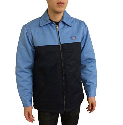 Dickies Men's 78266 Insulated Two Tone Twill Hip Length Jacket (3XL, Light Blue/Dark Navy)