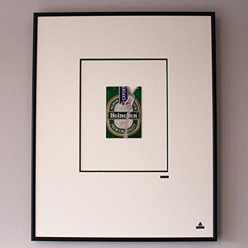 Martin Allen can Art - Heineken zipper in large aluminum frame