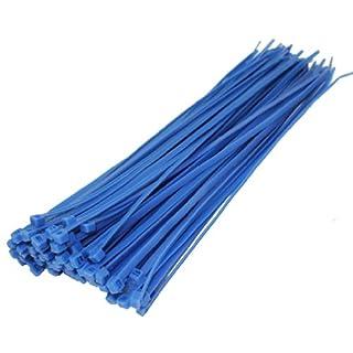All Trade Direct Kabelbinder, 300 mm x 4,8 mm, 100 Stück blau