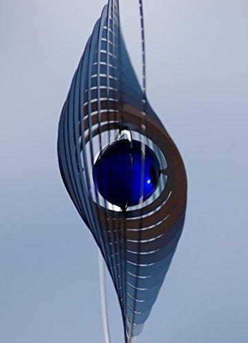 A2003 - steel4you hochwertiges 3D Windspiel aus Edelstahl mit Glasperle - Kreis 15cm x 15cm - made in Germany - 5