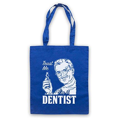 Fidati Di Me In Un Dentista Divertente Lavoro Slogan Cape Borsa Blu
