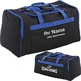 Spalding Tasche Sporttasche L Large 60 x 35 x 35 cm (schwarz/blau)