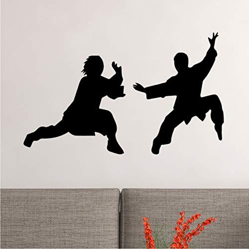 Zfkdsd Chinesische Kung Fu Wandaufkleber Tapete Dekoration Gesundheit Zubehör Für Wasserdichte Schlafzimmer Selbstklebende Wandkunst Pvc 30 * 50 Cm