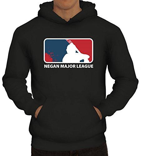 ShirtStreet Zombie Serie Kapuzenpullover mit Negan Major League Motiv, Größe: ()