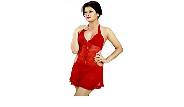 janvi fancy traders Offer Nighty for Woman Girls Honeymoon Lingerie  Nightwear Dress (Free Size 30 to 38)(Tomato Red Colour)  Amazon.in   Clothing   ... 48706aaee