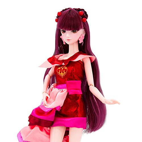 (XBYLLWJ Barbie - Ye Luoli Puppe Elf Dream Cartoon Prinzessin DIY Dream Set Refit Mädchen Barbie Dress Up Toy - Zina 29CM / 11 Zoll)