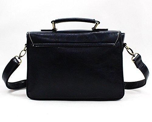 Whoinshop Vintage Tasche Damen Umhängetasche Schultaschen Schultertasche Kurierbeutel Blau