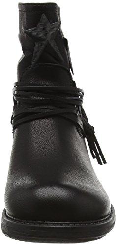 Boohoo Star Detail Biker Boot, Bottes Classiques femme Noir