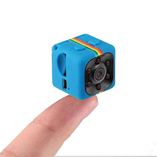 Mini Hidden Spy Video Recorder, Mini Spy Camera, HD Secret Video Recorder with Night Vision, Built-in Microphone and Motion Detection, Micro Covert Security Camera-Blue Hidden Recorder