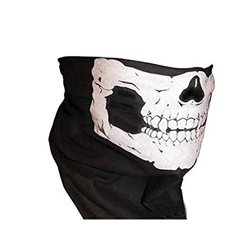 Preisvergleich Produktbild LLKOZZ Halloween Maske / Bandana Bike Motorradhelm Hals Gesichtsmaske