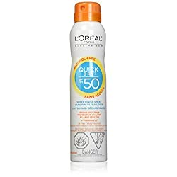 LOreal Paris Advanced Suncare Quick Dry Sheer Finish Spray SPF 50 Plus, 4.5 Ounce