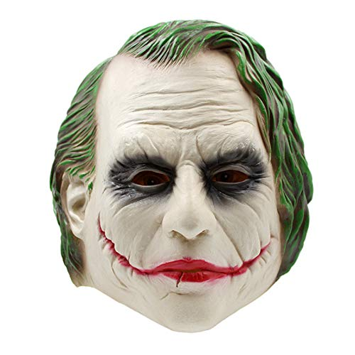Realist Batman Clown Kostüm Halloween-Maske Adult Cosplay Movie Full Head Latex Party Maske ()