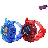 SalesLa 2x LCD reloj en tiempo real radio walkie talkie reloj Pantalla de dos vías Kids Toy Watch