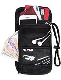 bagsmart cuello fundas de pasaporte cartera de viaje & ID holder tarjeta organizador
