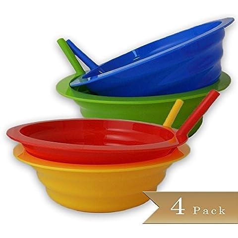 truecraftware 4colori assortiti sip-a-bowls–22oz, disponibile in Rosso, Blu, Giallo e