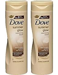 Dove Summer Glow Gradual Self Tan Body Lotion Medium To Dark 2 X 250 Ml = 500Ml