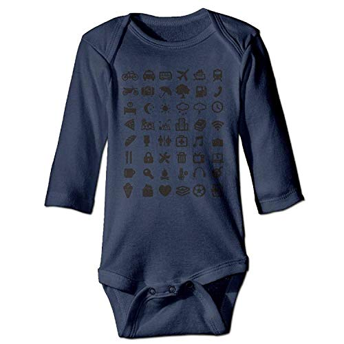 MSGDF Unisex Newborn Bodysuits Travel Icon Baby Babysuit Long Sleeve Jumpsuit Sunsuit Outfit Navy - Icon Zip Hoodie