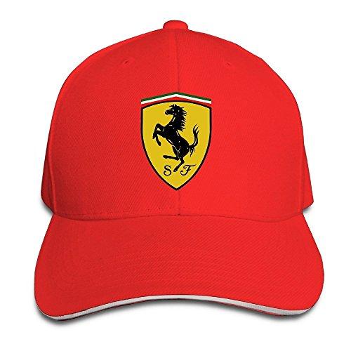 Gorra Ferrari Yhsuk de color rojo