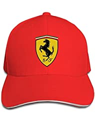 yhsuk Ferrari Sandwich Peaked Hat/Cap Red