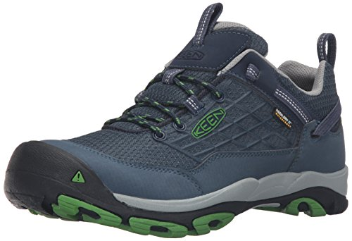 Keen Saltzman WP, Scarpe da Arrampicata Uomo, Grigio (Dress Blues/Online Lime), 40.5 EU