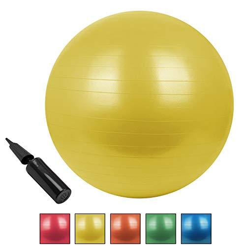 BB Sport GmbH & Co. KG Universal Gymnastikball Sitzball BOBBLY in Verschiedenen Größen und Farben Gymnastikball mit Pumpe berstsicher bis 300 kg, Durchmesser:85 cm, Farbe:Moving Yellow