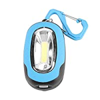 Bicaquu Mini Portable Camping Lamp COB Flashlight Tent Lantern Pocket Torch with Keychain(Blue)