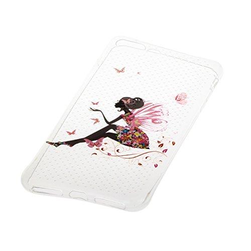 Voguecase® Pour Apple iPhone 7 4,7, TPU Silicone Shell Housse Coque Étui Case Cover (Creux-larmoiement)+ Gratuit stylet l'écran aléatoire universelle Creux-fille papillon