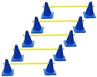 agility sport pour chiens - lot de 5 haies de coordination - 30 cm, jaune-bleu - 10x MZK30b 5x 100y