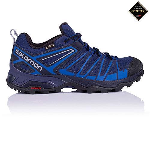 Salomon X Ultra 3 Prime GTX, Zapatillas de Senderismo para Hombre, Azul (Medieval Nautical Blue/Alloy 000), 45 1/3 EU