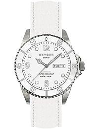 University Sports Press EX-D-WHI-40-CL-WH - Reloj de cuarzo unisex, correa de cuero color blanco